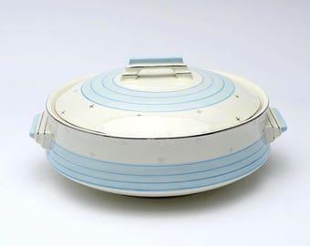 Vinatage casserole dish, 1950's tableware , ceramic dish, vintage chinaware, serving bowl, serving dish, retro dish, vintage ceramics, bowl