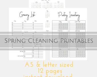 Organiser, Home Organization Binder, Grocery List, Shopping Checklist, Meal Planning, Kitchen Pantry Organization, Cleaning Checklist, Home