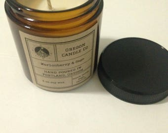 Amber Glass 4 oz Candle >> Soy Wax  >> Fragrance >>  Cotton & Wood Wick >> Home Decor >> Candles