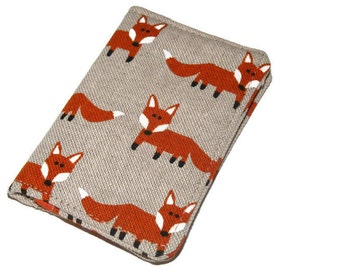 Thin Wallet, Womans Wallet, Travel Wallet, Minimalist Wallet, Business Card Holder, Credit Card Holder, Card Wallet, Mini Wallet Foxes