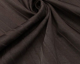 Chocolate Diagonal Stripe Stretch Suiting Fabric 57Wide bty