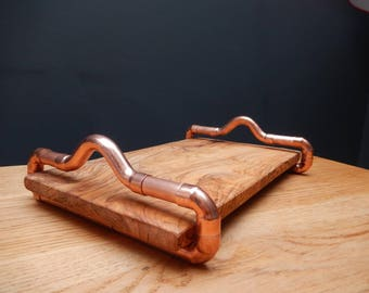 Copper and Olive Wood Board