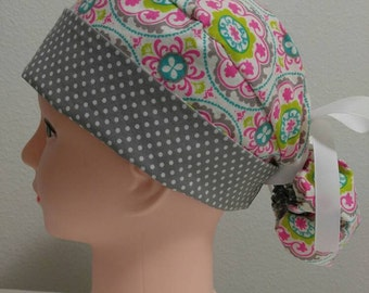 Ponytail surgical hat