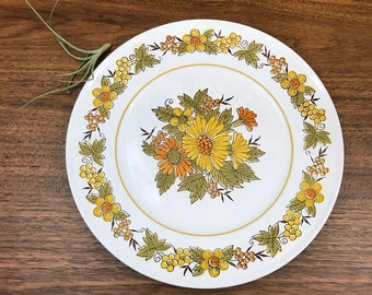 Yellow and Green Floral Serving Tray