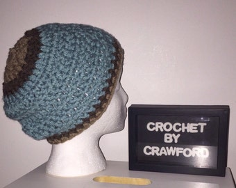 Handmade Adult size  Crochet Winter Beanie