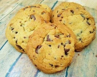 Chocolate Chip Cookies One Dozen - Chocolate Chip Cookies - Christmas Cookies - Bakery Cookies - Baked Goods - Chocolate Cookies