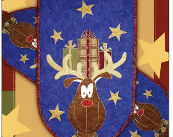 Rudolph's Ready Table Runner or Wall Quilt Pattern