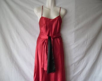 Vintage Two Faces Dress,Red or Black Evening Long Prom Dress,Ceremonial Vintage Red Black Dress,Vintage Glam Dress 90,Graduation Maxi Dress