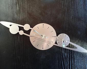 Wall clock planet stainless steel Mural art watch design wall clock of wallclock planets