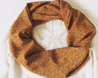 Mustard Floral Infinity Scarf