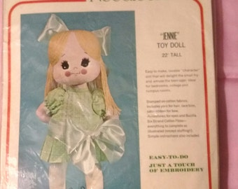 "Bucilla Needlecraft Doll Kit ""Jennie"" Toy Doll - Complete Kit 1677"