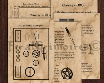 Wicca Altar Tools Book of Shadows Instant Download - Wicca Book of Shadows Pages Altar and Tools- Witchcraft Grimoire Pages
