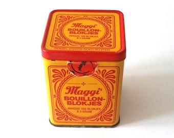 Old-fashioned Maggi Bouillon storage tin