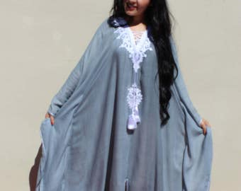gandoura Jan caftan Mother's Day gift for the mam. very comfortable for the pregnant woman with a 100% cotton fabric