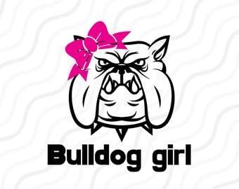 Bulldog Girl SVG, Bulldog SVG, Georgia Bulldogs SVG Cut table Design,svg,dxf,png Use With Silhouette Studio & Cricut_Instant Download