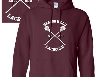 Beacon Hills Lacrosse Hoodie - Teen Wolf Stilinski Lahey McCall Unisex Hoody Top