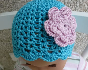 Baptism Hat baby Hat baby Hat cotton Hat 3 sizes up to approx. 18 Mon. many colors