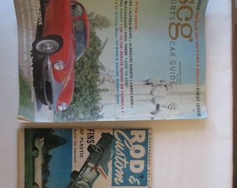 SCG Sports Car Guide - First Issue 1959 and Rod & Custom April 1956 issue