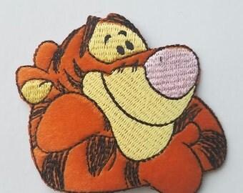 Tigger Iron on Patch - Disney's Winnie the Pooh Tigger Applique - Ready to Ship!