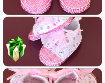 Crystal Baby Shoes, Baby Shoes, Rhinestone Baby Shoes, Rhinestone Shoes, Baby Shoes