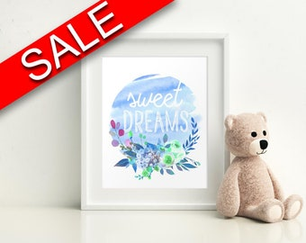 Wall Decor Sweet Dreams Printable Sweet Dreams Prints Sweet Dreams Sign Sweet Dreams Nursery Art Sweet Dreams Nursery Print Sweet Dreams