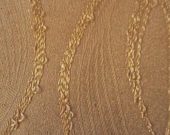 Gold Satin Eyelet Curtains
