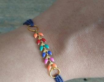 Multicolor spike bracelet