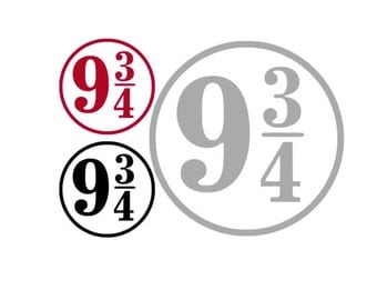 9 3/4, Nine and Three Quarters, HARRY POTTER Inspired Quality Vinyl Decal; Car Decal, Yeti Decal, Gifts for Him, Gifts for her, Fandom Art