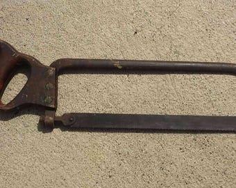 Saw. Hacksaw. Meat Saw. Bone Saw. Hand Saw. Vintage Saw. Vintage Hand Saw. Vintage Hacksaw. Vintage Tool.