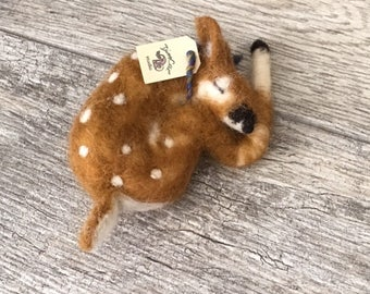 Fawn needle felted