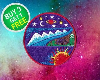 Adventure Patches Space Patches Patch Iron On Patch Appliques Embroidered Patches