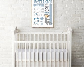 Printable Birth Stats - Birth Prints - Personalized Birth Facts - Digital - Birth Announcement - Baby Birth Poster - Instant Download