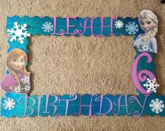 Frozen Anna & Elsa Photo Booth Frame