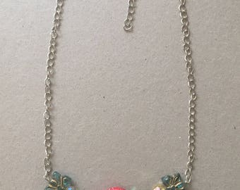 Ladybug, Leaf and Butterfly Choker Necklace