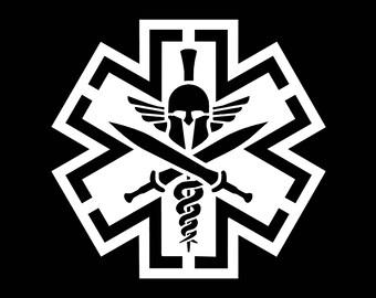 Spartan Medic Vinyl Decal