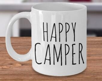 Happy Camper Mug - Camping Mug - Cute Gift for Campers