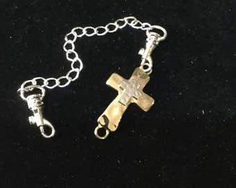 Gold/ silver CROSS bracelet