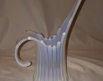 Vintage Opal Art Glass Vase