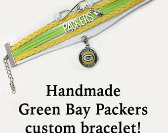 GREEN BAY Sports Bracelet **FREE Shipping with orders 10 dollars+ **
