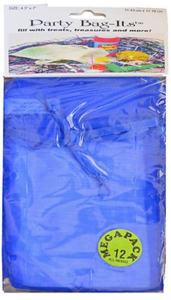 """Sheer Organza Bag-its, 12 pcs 4 1/2"""" x 7"""", Royal Blue  **FREE U.S. SHIPPING**"""