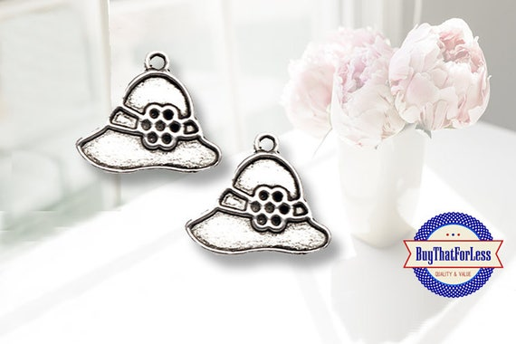 Spring HAT Charms, 6 pcs  **FREE Shipping with orders 10 dollars+**