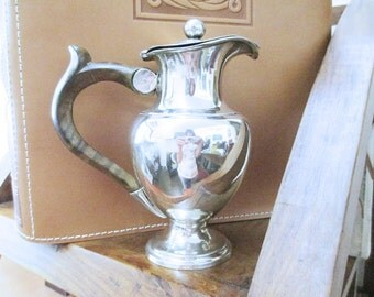 OLD RUSSIAN solid silver coffee pot Creamer 875 Hammered Russia's early 700 800 end Domestic century-punches unreadable