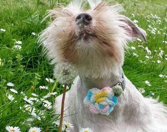 Dog Collar Flower, Cat Collar Rose, Wedding Accessory, Dog Collar Decoration, Collar Attachment, Crocheted Rose,