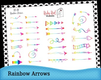 Arrow Stickers - Rainbow Stickers - Planner Stickers - Erin Condren Planner Stickers - Happy Planner  - HS-09