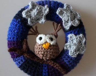 Twilight Owl Mini Wreath