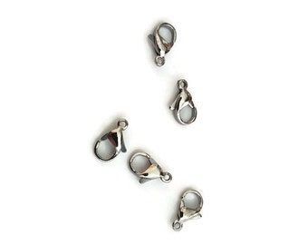 Stainless steel 12 mm lobster clasp