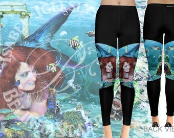 Absinthe at Sea - Leggings - Mermaid Fantasy