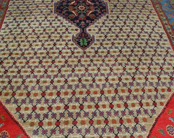 Authentic Persian rug from tribal Koliai, thick and comfortable 344 x215cm cm size