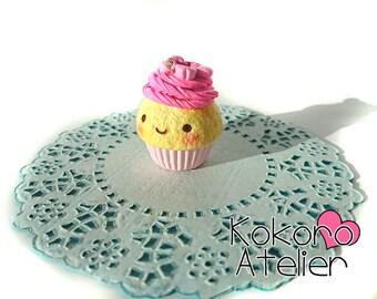Cute Polymer Clay Cupcake charm