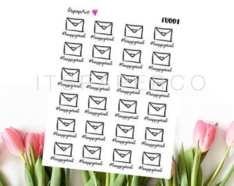 Happy Mail Stickers - Bullet Journal Stickers - Planner Stickers - Functional Stickers